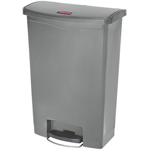 Rubbermaid Resin Slim Jim 90 Litre Front Step Step-On Pedal Bin Grey