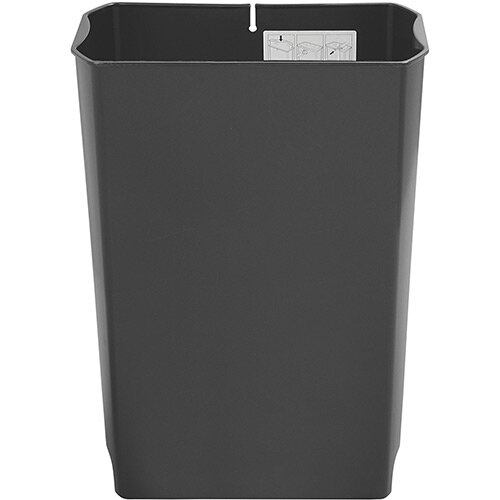 Rubbermaid Slim Jim 90 Litre Front Step Step-On Resin Wastebasket Rigid Liner Black