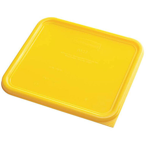Rubbermaid Large Lid for 11.4L Space Saving Square Food Storage Containers Yellow