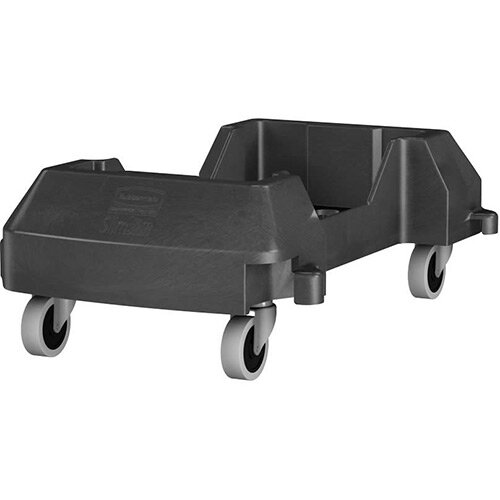 Rubbermaid Slim Jim Resin Trainable Dolly Black