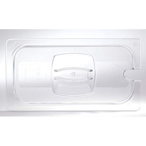 Rubbermaid 1/3 Size Gastronorm Notched Hard Cover For Cold Food Clear