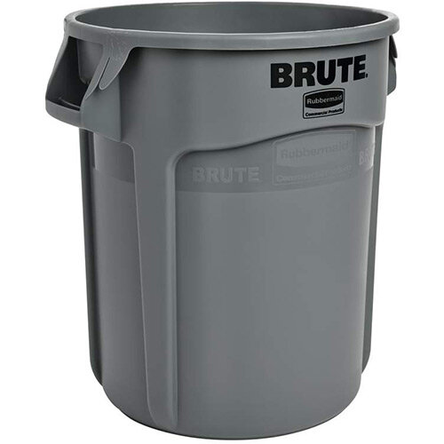 Rubbermaid BRUTE 75.7L Heavy-Duty Round Waste &Utility Container Grey