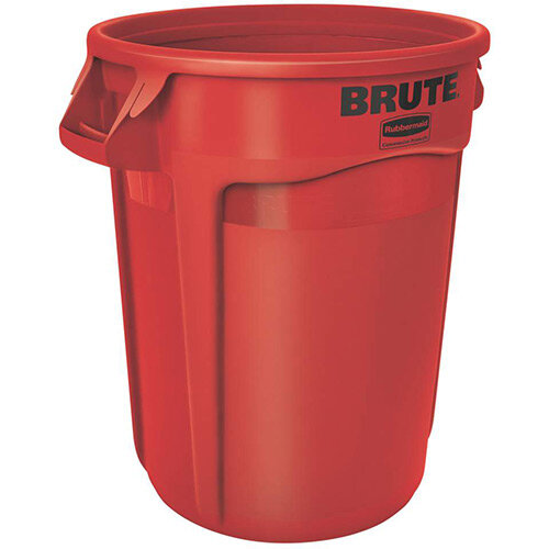 Rubbermaid BRUTE Container with Venting Channels 121.1 L Red