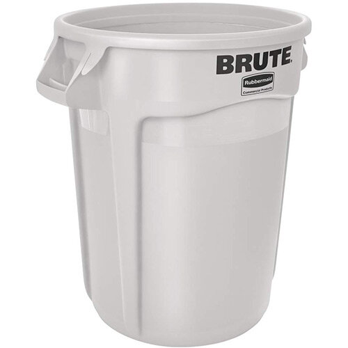 Rubbermaid BRUTE Container with Venting Channels 121.1 L White