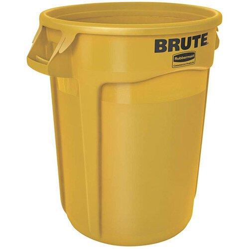 Rubbermaid BRUTE Container with Venting Channels 121.1 L Yellow