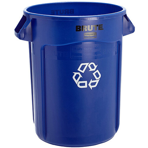 Rubbermaid BRUTE Container with Venting Channels 121.1 L Blue