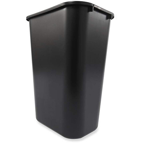 Rubbermaid 39L Rectangular Waste Basket Black
