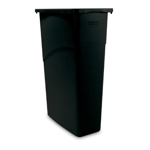 Rubbermaid Slim Jim 87L Waste Container Black