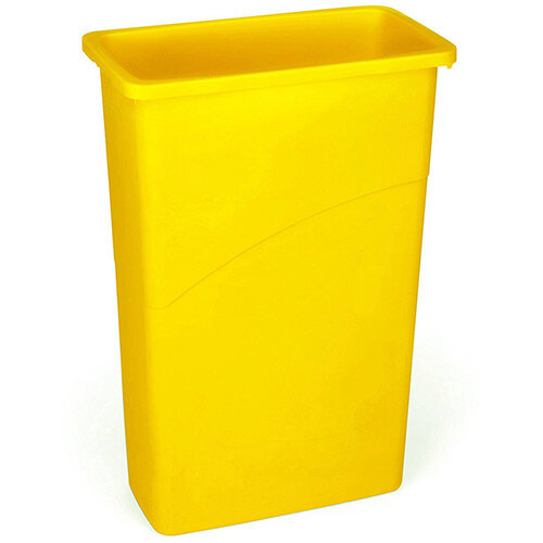 Rubbermaid Slim Jim 87L Waste Container Yellow