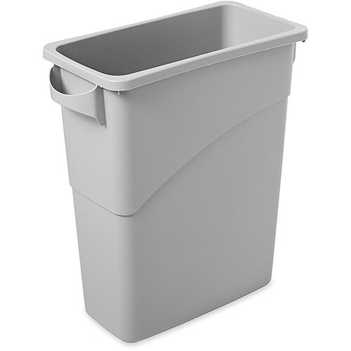 Rubbermaid Slim Jim 60L Recycling Container with Handles Grey
