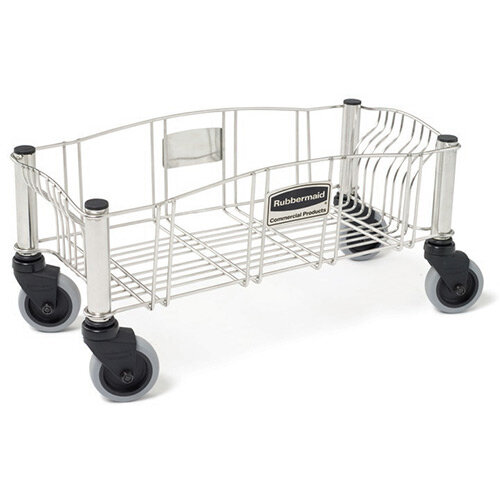 Rubbermaid Slim Jim Stainless Steel Dolly for Slim Jim Containers