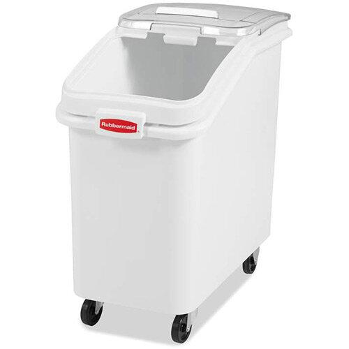 Rubbermaid 99L ProSave Food Ingredient Storage Bin with Sliding Lid &Scoop White