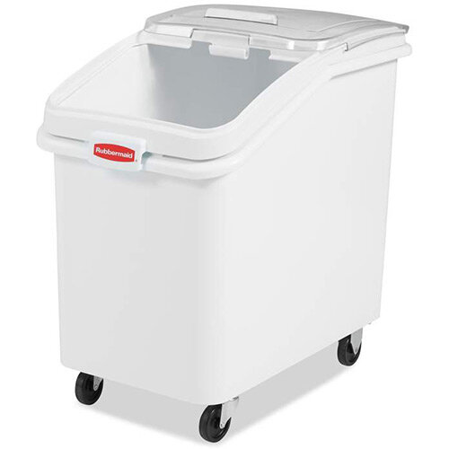 Rubbermaid 116L ProSave Food Ingredient Storage Bin with Sliding Lid &Scoop White