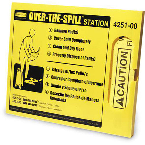 Rubbermaid Over-The-Spill Station Kit Yellow