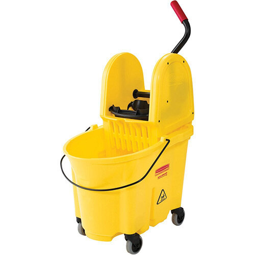 Rubbermaid WaveBrake Down Press Combo High Performance Mopping System Mobile Bucket Yellow