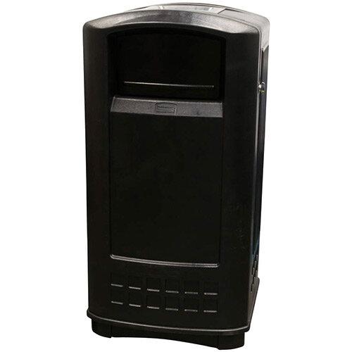 Rubbermaid 132.5L Rectangular Plastic Landmark Junior Indoor &Outdoor Trash Can With Ashtray Black