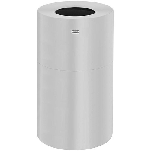 Rubbermaid 132.5L Atrium Aluminum 2 Piece Open Top Indoor Waste Bin