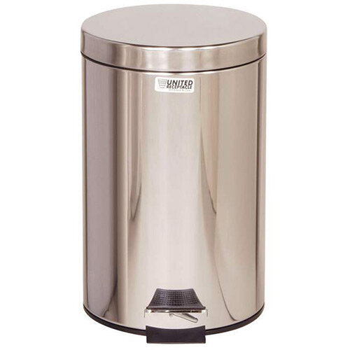 Rubbermaid Small Pedal Bin 13.2L Stainless Steel