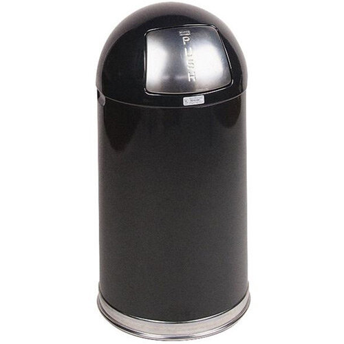 Rubbermaid 45L Easy Push Bin with Rigid Galvanised Liner