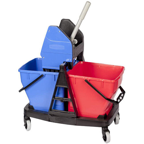 Rubbermaid Sani Duo Bucket &Wringer 2 x 18L Buckets