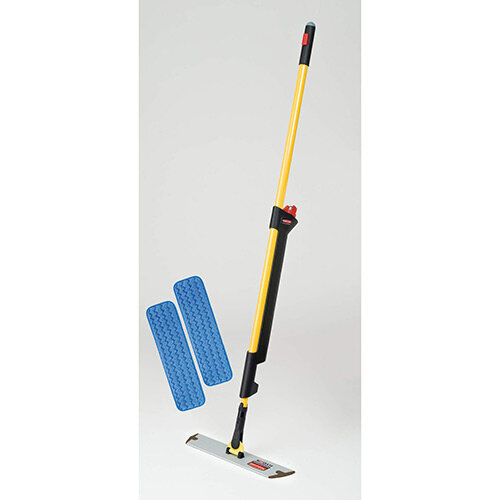 Rubbermaid Single Sided Pulse Mopping Kit with 2 Mops Yellow