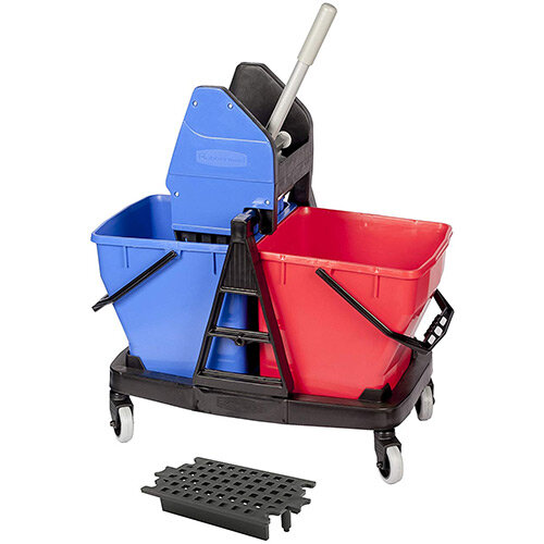 Rubbermaid Sani Duo Buckets with Wringer and Reducer