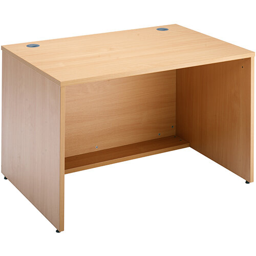 Denver Modular Reception Desk Straight Base Unit 1200x800mm - Beech