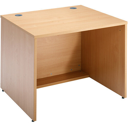 Denver Modular Reception Desk Straight Base Unit 800x800mm - Beech