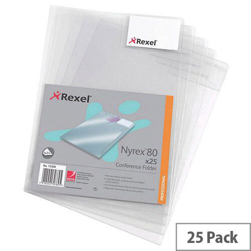 Rexel Nyrex-80 Conference Folder A4 Pack of 25 80CFA4 12300