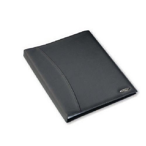 Rexel Soft Touch Smooth Display Book 36-Pocket Black 2101189