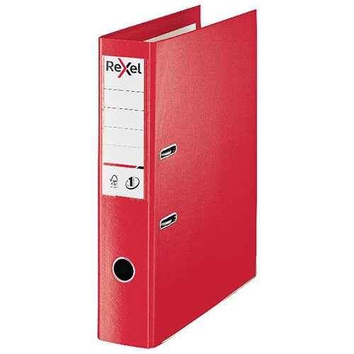 Rexel Choices 75mm Lever Arch File Polypropylene Foolscap Red 2115513