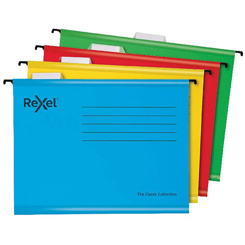Rexel  Classic Suspension Files Foolscap Blue Pack of 10 2115594