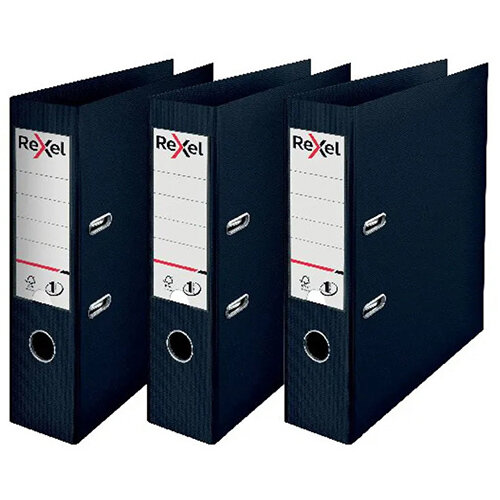 Rexel Choices Lever Arch File A4 Polypropylene Black 3 For 2 RX810222