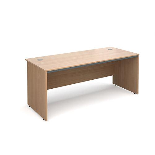 Maestro panel end straight desk 1786mm - beech