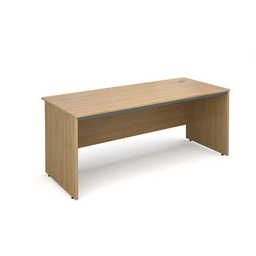 Maestro panel end straight desk 1786mm - oak