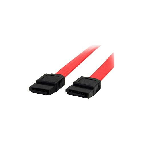 StarTech 18in SATA Serial ATA Cable 1 x Female SATA 1 x Female SATA Red