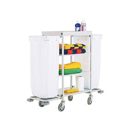 Hotel Housekeeping Service Trolley Cart With 2 White Laundry Bags 306770
