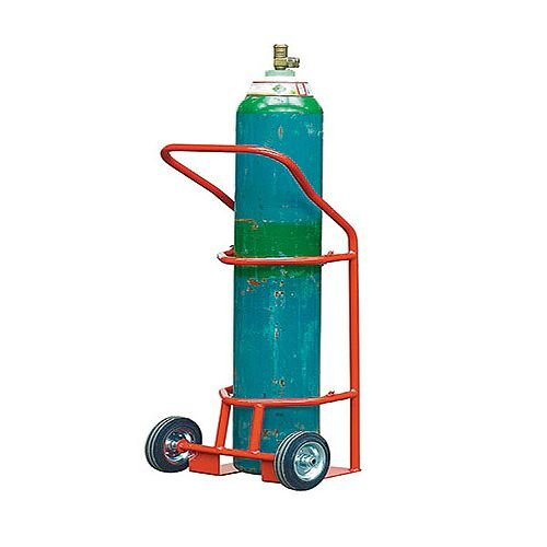 Cylinder Carrier 280mm Diameter Red Capacity 47kg With Rubber Wheels