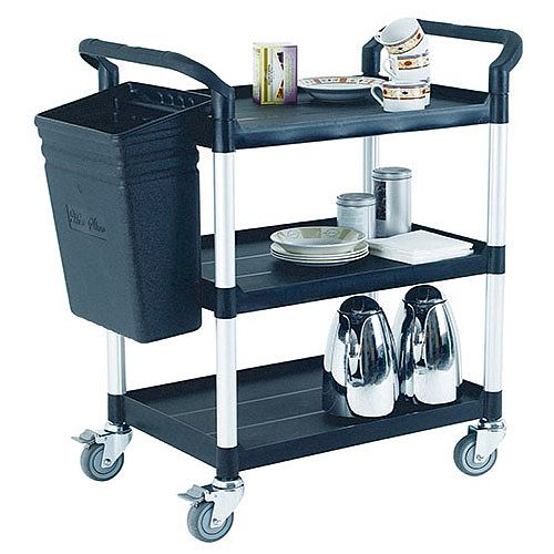 Utility Service Trolley Cart With 3 Shelves 309620