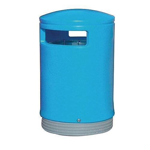 Outdoor Hooded Top Litter Bin 75 Litre Blue 321772 124495