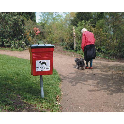 PET Hygiene Bin 30 Litre Red/Black 324475