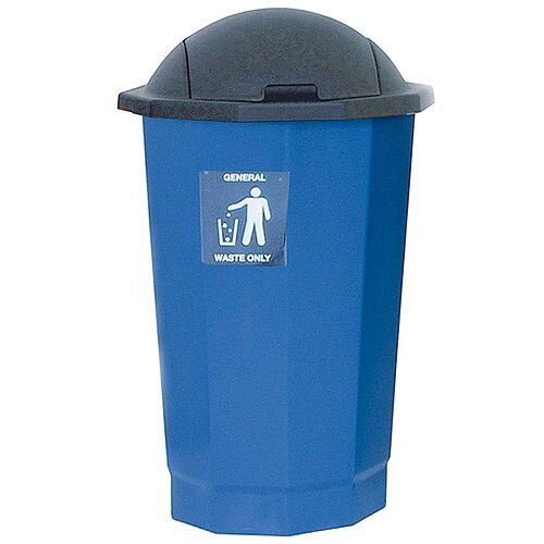Paper Recycling Bin Bank Black/Granite 75L SBY14621