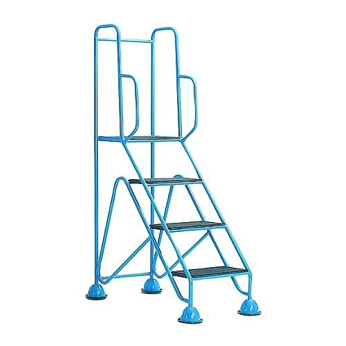 Easy Glide Mobile 4 Step Full Handrail Blue 359257