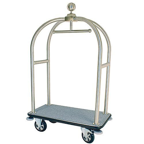 Hotel Bellboy Crown Luggage Trolley Brass 373239
