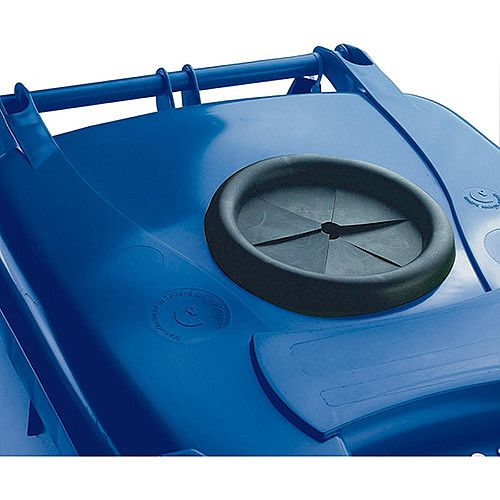 Wheelie Bin 240 Litre with Bottle Bank Aperture and Lid Lock Blue 124562