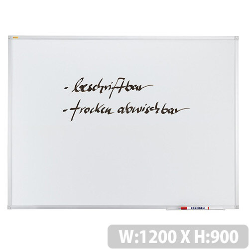 Franken ValueLine Whiteboard Plastic Coated Surface 1200x900mm SC3003