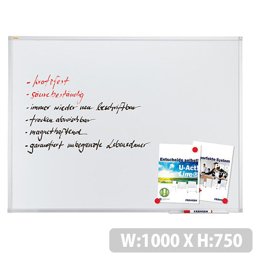 Franken ValueLine Magnetic Whiteboard 1000 x 750 mm Enameled SC3208