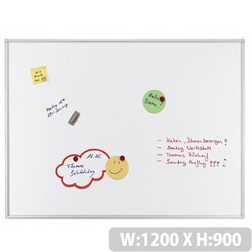 Franken ECO Enameled Magnetic Whiteboard 1200 x 900mm White SC4203