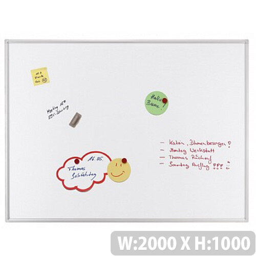 Franken ECO Enameled Magnetic Whiteboard 2000 x 1000mm White SC4204