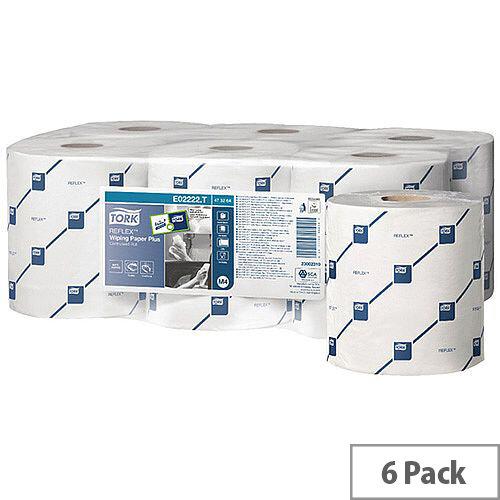 Tork Reflex Centrefeed Paper Rolls 2-Ply 150m White (6 Rolls) 473264